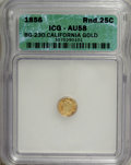 California Fractional Gold: , 1856 25C Liberty Round 25 Cents, BG-230, Low R.4, AU58 ICG. NGCCensus: (0/11). PCGS Population (10/105). (#10415)...