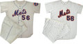 Baseball Collectibles:Uniforms, 1982-83 New York Mets Full Uniforms Lot of 2. Full home and away New York Mets uniforms that we present here date from the ...