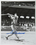 Autographs:Photos, Ted Williams Signed Photograph. Pictured here near the beginning ofhis epic ascent to become the best hitter of his day, t...