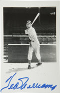 Autographs:Post Cards, Ted Williams Signed Brace Postcard. Popular image of a young TedWilliams is afforded on the provided Brace photographic po...