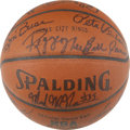 Basketball Collectibles:Balls, 1984-85 Kansas City Kings Team Signed Basketball. The 1984-85Kansas City Kings are represented here by a fabulous assortme...