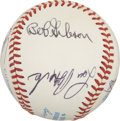 Autographs:Baseballs, Baseball Old Timers Multi-Signed Baseball. A total of eight OldTimers have placed top-notch signatures to the clean OAL (B...