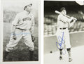 Autographs:Post Cards, Harry Hooper and Joe Cronin Signed Brace Postcards Lot of 2. From the famed Brace postcards we present this fine pair of Ha...