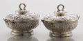 Silver Holloware, American:Entrée Dishes, A PAIR OF AMERICAN SILVER ENTRÉE SERVING DISHES WITH COVERS. Tiffany & Co., New York, New York, circa 1875. Marks: TIFFANY... (Total: 2 Items)