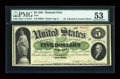 Large Size:Demand Notes, Fr. 1 $5 1861 Demand Note PMG About Uncirculated 53....