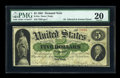 Large Size:Demand Notes, Fr. 1a $5 1861 Demand Note PMG Very Fine 20....