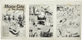 """Original Comic Art:Complete Story, Sheldon Moldoff - Moon Girl Fights Crime #8, Complete 9-Page Story """"The Witch of the Haunted Hills!"""" Original Art (EC, 1949).... (Total: 9 Items)"""