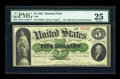 Large Size:Demand Notes, Fr. 2 $5 1861 Demand Note PMG Very Fine 25....