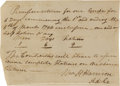 Autographs:U.S. Presidents, William Henry Harrison Receipt Signed...