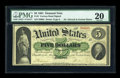 Large Size:Demand Notes, Fr. 3 $5 1861 Demand Note PMG Very Fine 20....