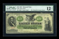 Large Size:Demand Notes, Fr. 6 $10 1861 Demand Note PMG Fine 12 Net....