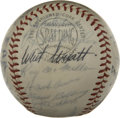 Autographs:Baseballs, 1961 Milwaukee Braves Team Signed Baseball. With a star-studdedlineup that included a rookie Joe Torre, the 1961 Milwaukee...