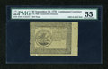 Colonial Notes:Continental Congress Issues, Continental Currency September 26, 1778 $5 Counterfeit Detector PMGAbout Uncirculated 55....
