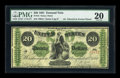 Large Size:Demand Notes, Fr. 12 $20 1861 Demand Note PMG Very Fine 20....