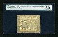 Colonial Notes:Continental Congress Issues, Continental Currency September 26, 1778 $50 PMG About Uncirculated50....