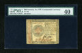 Colonial Notes:Continental Congress Issues, Continental Currency January 14, 1779 $80 PMG Extremely Fine 40....