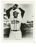 """Autographs:Photos, Satchel Paige Signed Photograph. The ageless wonder pitcher SatchelPaige has posed for the 8x10"""" photo that we present her..."""