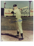 """Autographs:Photos, Mickey Mantle Signed Photograph. A rookie Mickey Mantle makes forquite an offering with the 8x10"""" photo that we present her..."""