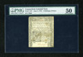 Colonial Notes:Connecticut, Connecticut June 7, 1776 2s/6d Uncancelled PMG About Uncirculated50....