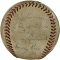 Autographs:Baseballs, 1946 New York Giants Team Signed Baseball. Managed by the Hall ofFamer Mel Ott, the 1946 New York Giants are represented h...
