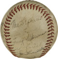 Autographs:Baseballs, 1946 St. Louis Browns Team Signed Baseball. Exceptional wartime orbcomes to us courtesy of the 1946 St. Louis Browns, who ...