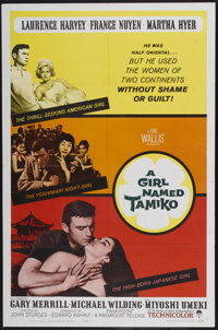 "A Girl Named Tamiko (Paramount, 1962). One Sheet (27"" X 41""). Drama"