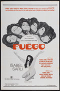 "Movie Posters:Adult, Fuego (Haven International Pictures, 1969). One Sheet (27"" X 41""). Adult...."