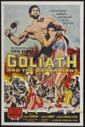 """Movie Posters:Adventure, Goliath and the Barbarians (American International, 1959). OneSheet (27"""" X 41""""). Adventure...."""