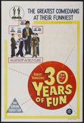 "Movie Posters:Documentary, 30 Years of Fun (20th Century Fox, 1963). Australian One Sheet (27"" X 40""). Documentary...."