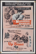 "Movie Posters:Adventure, The Mississippi Gambler/ Up Front Combo (Universal International,R-1958). One Sheet (27"" X 41""). Adventure...."