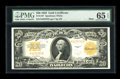 Large Size:Gold Certificates, Fr. 1187 $20 1922 Mule Gold Certificate PMG Gem Uncirculated 65EPQ....