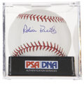 Autographs:Baseballs, Robin Roberts Single Signed Baseball, PSA Mint+ 9.5....