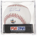Autographs:Baseballs, Barry Bonds Single Signed Baseball, PSA Mint 9....