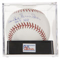 "Autographs:Baseballs, Duke Snider ""407 HR"" Single Signed Baseball, PSA Mint+ 9.5...."