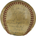 Autographs:Baseballs, 1941 Brooklyn Dodgers Team Signed Baseball. In what a dramatic endto the 1941 season, the Brooklyn Dodgers were able to ho...