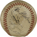 Autographs:Baseballs, 1947 Washington Senators vs. St. Louis Browns Multi-SignedBaseball. Signed at a 1947 matchup between the Washington Senato...