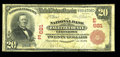 National Bank Notes:Pennsylvania, Uniontown, PA - $20 1902 Red Seal Fr. 639 NB of Fayette County Ch.# (E)681. ...