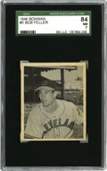 Baseball Cards:Singles (1940-1949), 1948 Bowman Bob Feller #5 SGC 84 NM 7. Outstanding Hall of Famecardboard remains a visual delight. Rapid Robert has rarel...