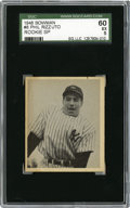 Baseball Cards:Singles (1940-1949), 1948 Bowman Phil Rizzuto #8 SGC 60 EX 5. Important rookie offering from the beloved and recently departed Scooter. Great ce...