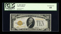 Small Size:Gold Certificates, Fr. 2400 $10 1928 Gold Certificate. PCGS Very Choice New 64.. ...