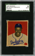 Baseball Cards:Singles (1940-1949), 1949 Bowman Jackie Robinson #50 SGC Authentic. When he came to themajor leagues, many doubted Jackie Robinson's ability to...