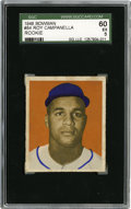 Baseball Cards:Singles (1940-1949), 1949 Bowman Roy Campanella #84 SGC 60 EX 5. Important rookieoffering from one of the finest catchers of all-time. Excepti...