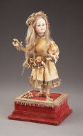 Decorative Arts, French:Other , A FRENCH MUSICAL AUTOMATON DOLL. Late 19th Century. Movementmarked: Marcu Paris. 21 inches (53.3 cm) high. ...