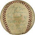 Autographs:Baseballs, 1941 Philadelphia Phillies Team Signed Baseball. The PhiladelphiaPhillies of 1941 are represented here by the 23 signature...