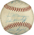 Autographs:Baseballs, 1947 New York Yankees World Champion Team Signed Baseball. TheWorld Series Champs from the 1947 season have provided the e...