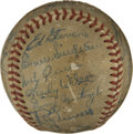 Autographs:Baseballs, 1948 Pittsburgh Pirates Team Signed Baseball. Fine assortment ofvintage signatures from the 1948 Pittsburgh Pirates have b...