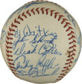 Autographs:Baseballs, 1948 Chicago Cubs Team Signed Baseball. Fine assortment of 17signatures from the 1948 Chicago Cubs appears on the surface ...