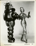 "Movie Posters:Science Fiction, Anne Francis and Robby the Robot in ""Forbidden Planet"" PublicityStill (MGM, 1956). (8"" X 10"")...."