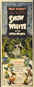 "Movie Posters:Animated, Snow White and the Seven Dwarfs (RKO, 1937). Insert (14"" X 36"")...."