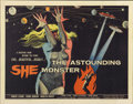 "Movie Posters:Science Fiction, The Astounding She Monster (American International, 1958). HalfSheet (22"" X 28"")...."